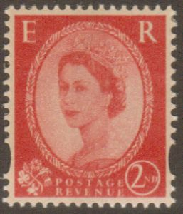 SG2258Ea 2nd Class Centre Band  Wilding Stamp With Diagonal Watermark